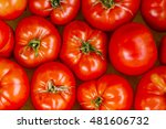 fresh red heirloom tomatoes at...   Shutterstock . vector #481606732