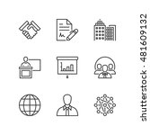 thin line icons set about... | Shutterstock .eps vector #481609132