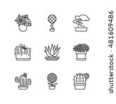 thin line icons set about... | Shutterstock .eps vector #481609486