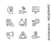 thin line icons set about...   Shutterstock .eps vector #481609495