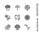 thin line icons set about... | Shutterstock .eps vector #481609528