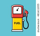 gasoline fuel pump icon. | Shutterstock .eps vector #481611055