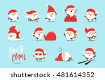 santa claus collection of... | Shutterstock .eps vector #481614352