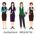 office workers. set of women in ... | Shutterstock .eps vector #481626736