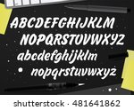vector set with handwritten abc ... | Shutterstock .eps vector #481641862