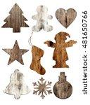 set of christmas wood...   Shutterstock . vector #481650766