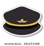 Flat Design Style Vector Illustration Pilot Hat With Wings Symbol Icon Profession Worker And Occupation Theme Isolated