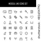 set of medical icons in modern... | Shutterstock .eps vector #481654792