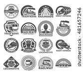 train  or railroad logo  signs... | Shutterstock .eps vector #481657246