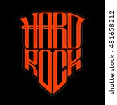 hard rock music print  hipster... | Shutterstock .eps vector #481658212