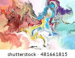 abstract digital painting for... | Shutterstock . vector #481661815