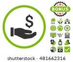 earnings hand icon with bonus.... | Shutterstock . vector #481662316