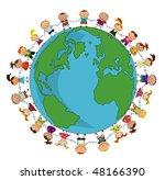 kids around the world. | Shutterstock .eps vector #48166390