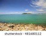 beautiful tropical beach sea... | Shutterstock . vector #481680112