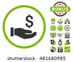 earnings hand icon with bonus.... | Shutterstock .eps vector #481680985