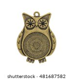 owl necklace isolated on a... | Shutterstock . vector #481687582