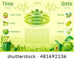 green autumn farmers market... | Shutterstock .eps vector #481692136