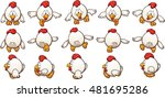 cartoon chicken sprites ready... | Shutterstock .eps vector #481695286