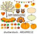 autumn thanksgiving vector... | Shutterstock .eps vector #481698112