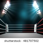 boxing ring with illumination... | Shutterstock . vector #481707502