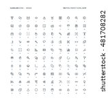 design  clear line ... | Shutterstock .eps vector #481708282