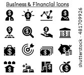 business and financial icon set | Shutterstock .eps vector #481709926