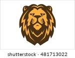 lion head logo 2 | Shutterstock .eps vector #481713022