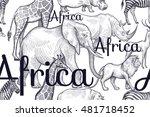 Vector Seamless Pattern Africa...