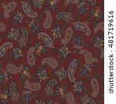 paisley design pattern | Shutterstock .eps vector #481719616