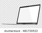 modern glossy laptop isolated... | Shutterstock .eps vector #481720522