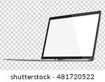 modern glossy laptop isolated... | Shutterstock .eps vector #481720522