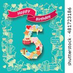 card invitation with number and ... | Shutterstock .eps vector #481723186