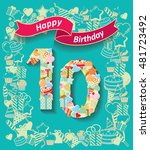 card invitation with number and ... | Shutterstock .eps vector #481723492