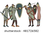 norman soldiers done in a... | Shutterstock . vector #481726582