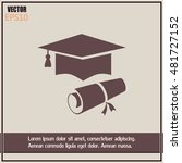 graduation cap vector icon | Shutterstock .eps vector #481727152