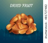 dried date palm fruits or kurma ... | Shutterstock .eps vector #481727482