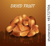 dried date palm fruits or kurma ... | Shutterstock .eps vector #481727506