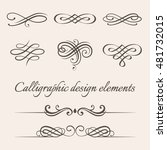 vector set of calligraphic and... | Shutterstock .eps vector #481732015