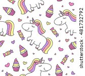 vector baby seamless pattern... | Shutterstock .eps vector #481732792