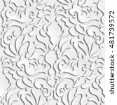 seamless damask pattern with... | Shutterstock . vector #481739572
