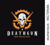 death gun logo  skull and gun... | Shutterstock .eps vector #481739686