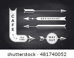 set of vintage arrows and... | Shutterstock .eps vector #481740052
