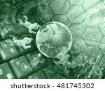 digits  mans and building  ... | Shutterstock . vector #481745302