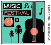 music festival   flat style... | Shutterstock .eps vector #481746556