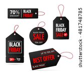 set of tags for black friday... | Shutterstock .eps vector #481748785