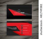 dark red black business card | Shutterstock .eps vector #481749382
