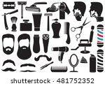 barber salon or shop vector... | Shutterstock .eps vector #481752352