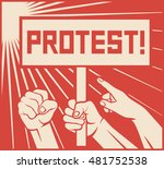 protest design   lots of... | Shutterstock .eps vector #481752538
