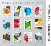 mega pack brochure design... | Shutterstock .eps vector #481753702