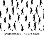 vector seamless background of...   Shutterstock .eps vector #481755826